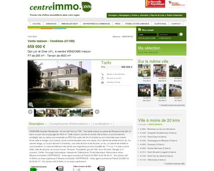 Annonce : Vente maison - Vendôme (41100) -...