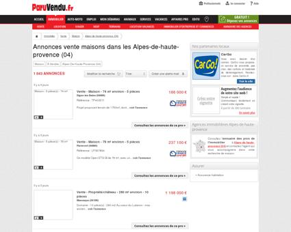 Vente maison Alpes-de-haute-provence (04) :...