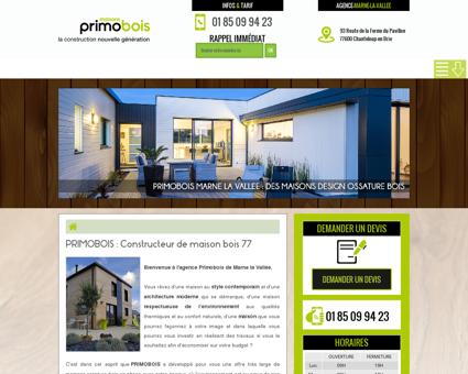 Constructeur maison bois 77 | Primobois à...