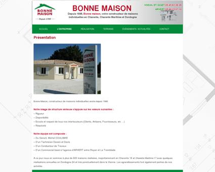 Présentation - Bonne Maison | Constructeur de...