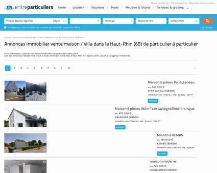 Maison / villa à vendre dans le Haut-Rhin (68) :...