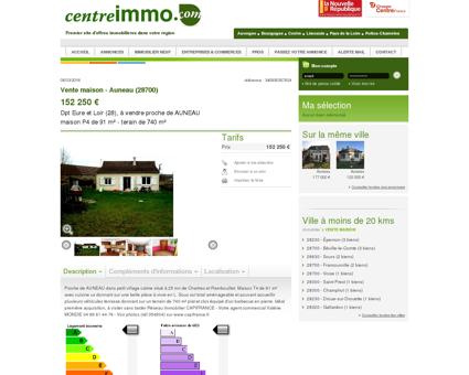 Annonce : Vente maison - Auneau (28700) -...