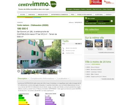 Annonce : Vente maison - Châteaudun (28200)...