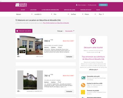 Location Maison Meurthe-et-Moselle   Louer...