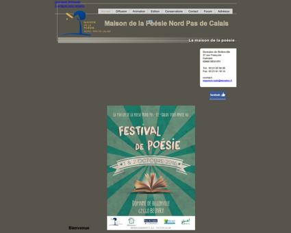 Site officiel de la maison de la poésie Nord Pas...
