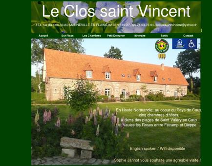 Le Clos Saint Vincent - Accueil