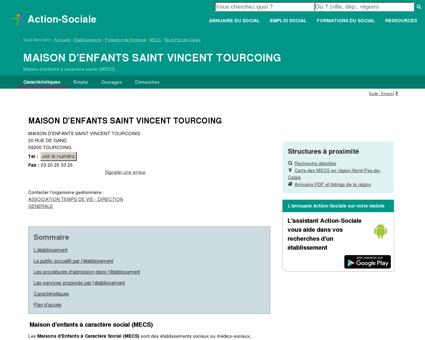 TOURCOING : MAISON D'ENFANTS SAINT...