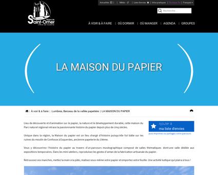 LA MAISON DU PAPIER - Office du tourisme...