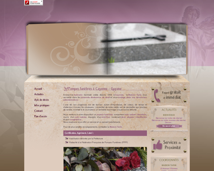 Pompes funebres Guyane - MAISON TARIN :...