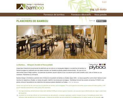 Planchers de bambou | La Maison du Bamboo...