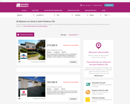 Vente Maison Saint Pardoux (79)   Acheter...