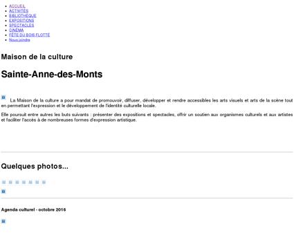 Maison de la culture de Sainte-Anne-des...