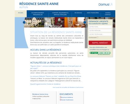 Résidence Sainte-Anne : Maison de retraite...