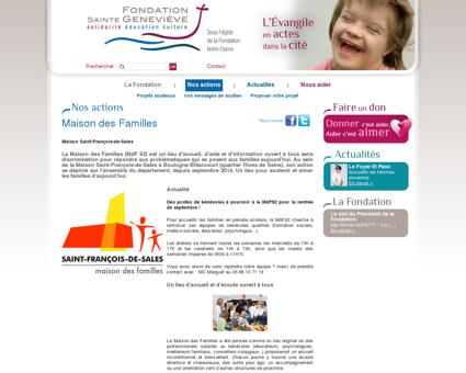 Maison des Familles - Fondation Sainte...