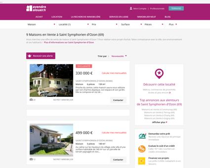 Vente Maison Saint Symphorien d'Ozon (69) |...