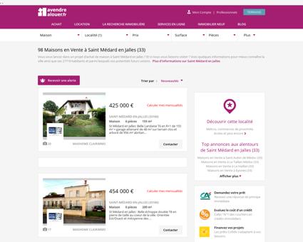 Vente Maison Saint Médard en Jalles (33)  ...