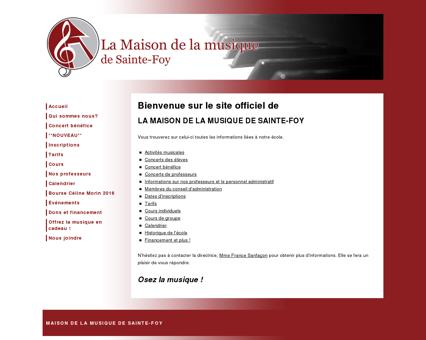 Maison de la musique de Sainte-Foy » École...