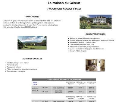 Maison du Géreur : Habitation morne Etoile -...