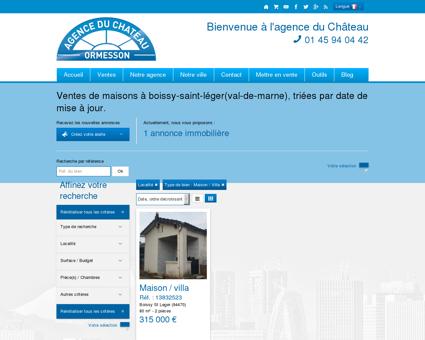 ventes de maisons situées à Boissy-Saint-Léger...