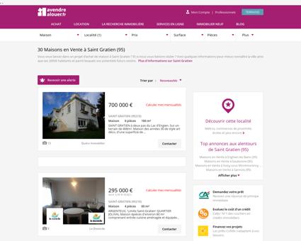 Vente Maison Saint Gratien (95) | Acheter...