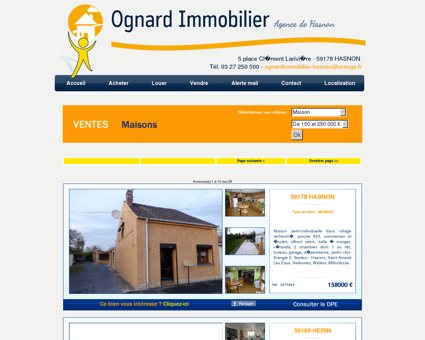 Immobilier Hasnon, agence immobiliere...