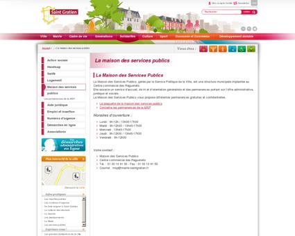 La maison des services publics / Ville de Saint...