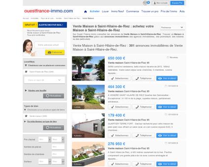Maison a vendre a Saint-Hilaire-de-Riez...
