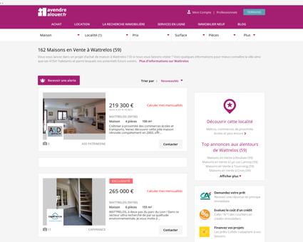 Vente Maison Wattrelos (59) | Acheter Maison...