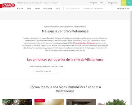 Achat - Vente Maison à Villetaneuse - Orpi...