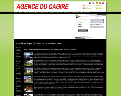 Immobilier Aspet (Proche) (31) Haute-Garonne...