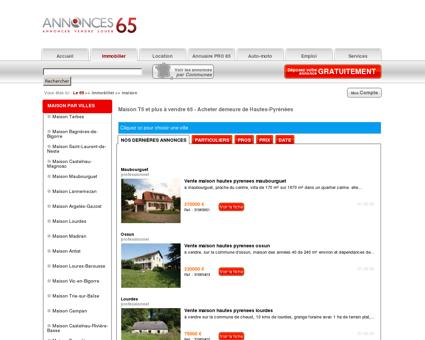Maison T5 et plus à vendre 65 - Acheter...