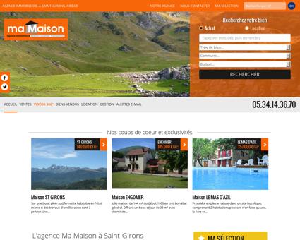 Immobilier Saint Girons, agence Ma Maison en...