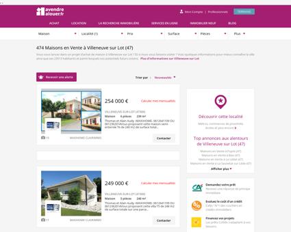 Vente Maison Villeneuve sur Lot (47) |...