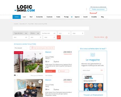 Maison à vendre Torcy 77200, vente Maison...