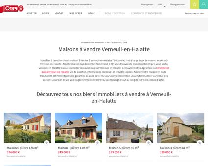 Achat - Vente Maison à Verneuil en halatte -...