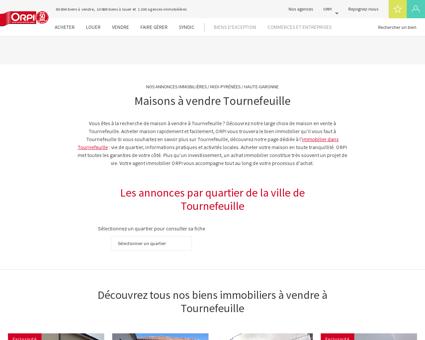 Achat - Vente Maison à Tournefeuille - Orpi...