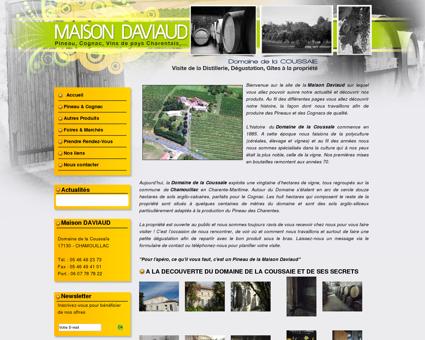 Maison Daviaud : Vente de Pineau, Cognac, Vin...