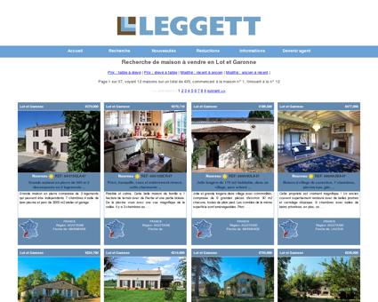 Leggett: Recherche de maison à vendre en Lot...