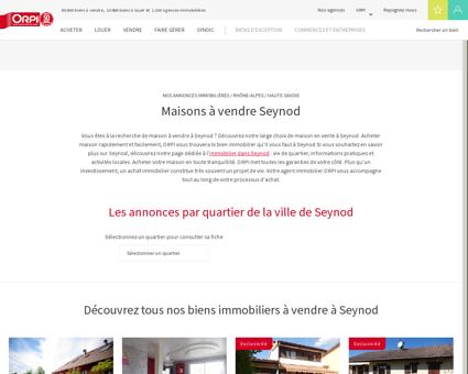 Achat - Vente Maison à Seynod - Orpi...