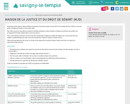La Maison de la Justice et du Droit de Sénart...