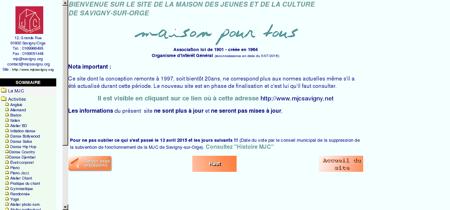 SITE de la MJC de Savigny sur Orge