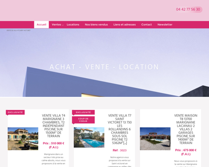 Achat maison Saint Victoret - Agence...
