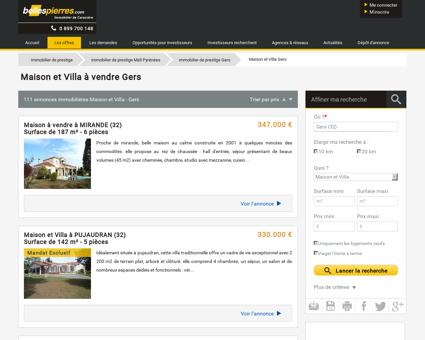 Maison et villa a vendre Gers (32 ) - Immobilier...