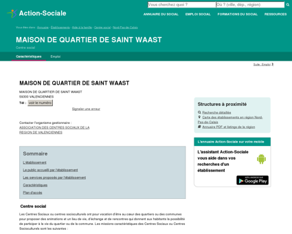VALENCIENNES : MAISON DE QUARTIER DE...
