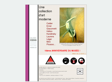 Site officiel du Musée ZERVOS à Vezelay-...