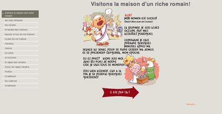 Visitons la maison d'un riche romain! - Collège...