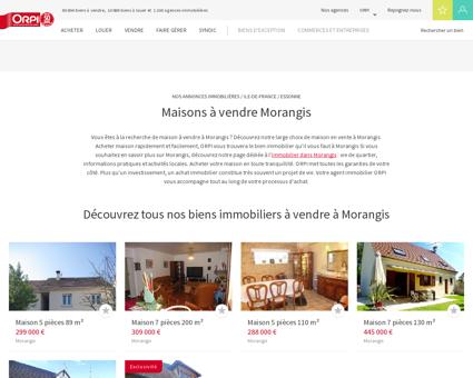 Achat - Vente Maison à Morangis - Orpi...