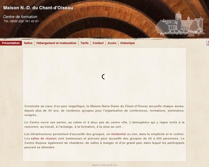 Présentation - Maison N.-D. du Chant-d'Oiseau