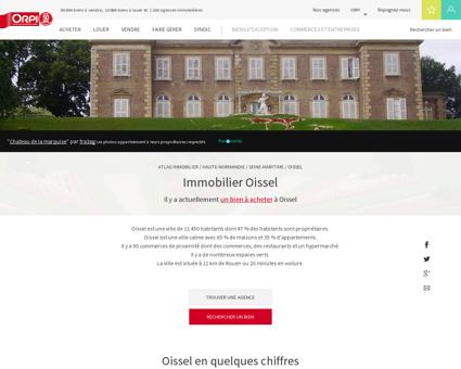 Immobilier Oissel - Biens immobiliers vendus...