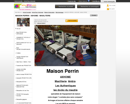 magasin d'ameublement, literie, salons,...